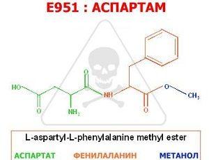 Аспартам Е 951: действие на организм, положительные и отрицательные качества, применение