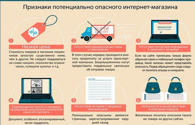 Признаки опасного интернет-магазина