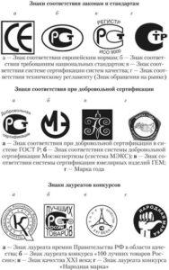 Маркировка продукции в России (нажмите для увеличения)